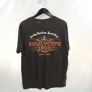 HARLEY DAVIDSON Brown T-shirt 2XL Official Italy